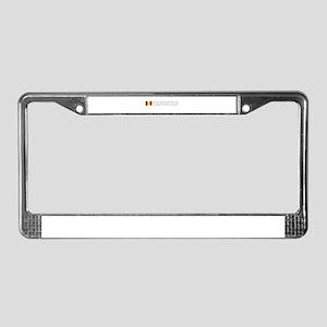 Brussels, Belgium License Plate Frame
