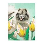 Keeshond in Tulips 5'x7'Area Rug