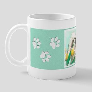 Keeshond in Tulips 11 oz Ceramic Mug