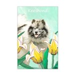 Keeshond in Tulips Mini Poster Print