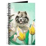 Keeshond in Tulips Journal