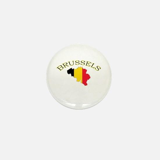Brussels, Belgium Mini Button