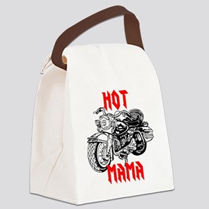 HOT MOTORCYCLE MAMA Canvas Lunch Bag