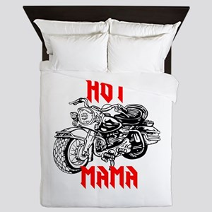 HOT MOTORCYCLE MAMA Queen Duvet