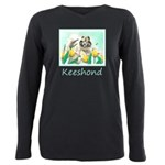 Keeshond in Tulips Plus Size Long Sleeve Tee