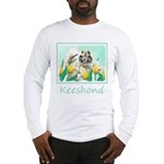 Keeshond in Tulips Long Sleeve T-Shirt