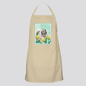 Keeshond in Tulips Light Apron