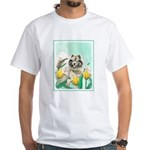 Keeshond in Tulips White T-Shirt