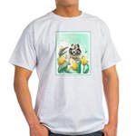 Keeshond in Tulips Light T-Shirt