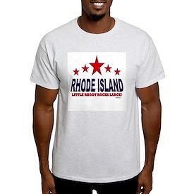 Rhode Island Little Rhody Rocks Larg T-Shirt