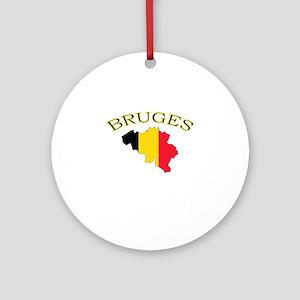 Bruges, Belgium Ornament (Round)