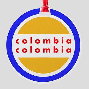 Colombia Pride Round Ornament