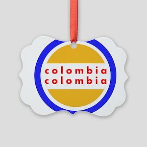 Colombia Pride Picture Ornament