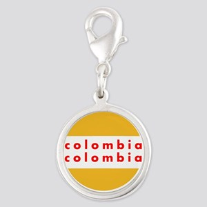 Colombia Pride Silver Round Charm