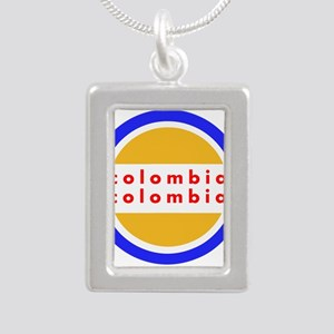 Colombia Pride Silver Portrait Necklace
