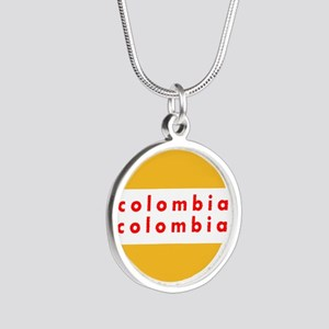 Colombia Pride Silver Round Necklace