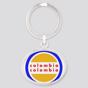 Colombia Pride Oval Keychain