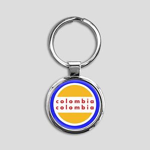 Colombia Pride Round Keychain