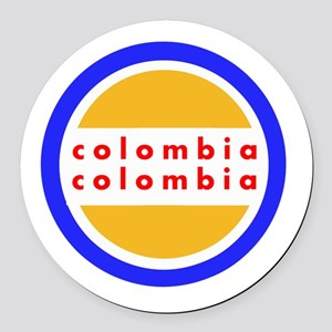 Colombia Pride Round Car Magnet