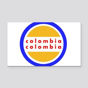 Colombia Pride Rectangle Car Magnet