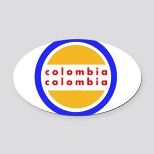 Colombia Pride Oval Car Magnet
