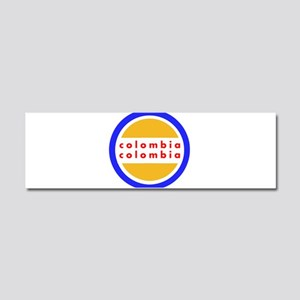 Colombia Pride Car Magnet 10 x 3
