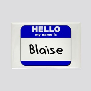 hello my name is blaise Rectangle Magnet