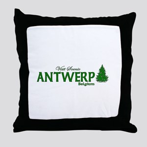 Visit Scenic Antwerp, Belgium Throw Pillow