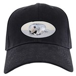 Keeshond Puppy (Sleeping) Black Cap with Patch