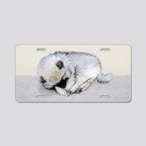 Keeshond Puppy (Sleeping) Aluminum License Plate