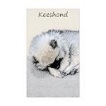 Keeshond Puppy (Sleeping Sticker (Rectangle 10 pk)