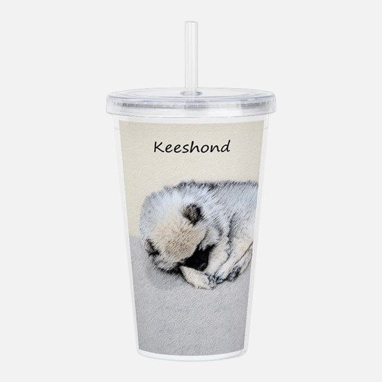 Keeshond Puppy (Sleepi Acrylic Double-wall Tumbler