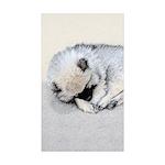 Keeshond Puppy (Sleeping Sticker (Rectangle 50 pk)
