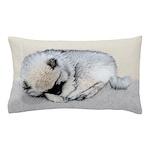 Keeshond Puppy (Sleeping) Pillow Case
