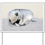 Keeshond Puppy (Sleeping) Yard Sign