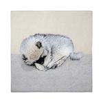 Keeshond Puppy (Sleeping) Queen Duvet