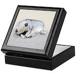Keeshond Puppy (Sleeping) Keepsake Box