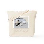 Keeshond Puppy (Sleeping) Tote Bag