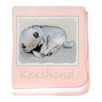 Keeshond Puppy (Sleeping) baby blanket