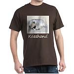 Keeshond Puppy (Sleeping) Dark T-Shirt