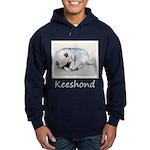 Keeshond Puppy (Sleeping) Hoodie (dark)