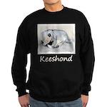 Keeshond Puppy (Sleeping) Sweatshirt (dark)
