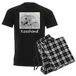 Keeshond Puppy (Sleeping) Men's Dark Pajamas