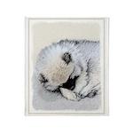 Keeshond Puppy (Sleeping) Throw Blanket