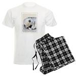 Keeshond Puppy (Sleeping) Men's Light Pajamas