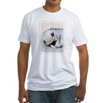 Keeshond Puppy (Sleeping) Fitted T-Shirt