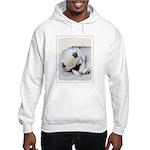Keeshond Puppy (Sleeping) Hooded Sweatshirt
