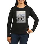 Keeshond Puppy (S Women's Long Sleeve Dark T-Shirt