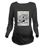 Keeshond Puppy (Slee Long Sleeve Maternity T-Shirt