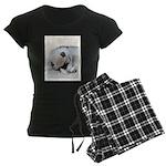 Keeshond Puppy (Sleeping) Women's Dark Pajamas